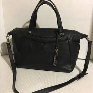 Vince Camuto Black leather satchel handbag
